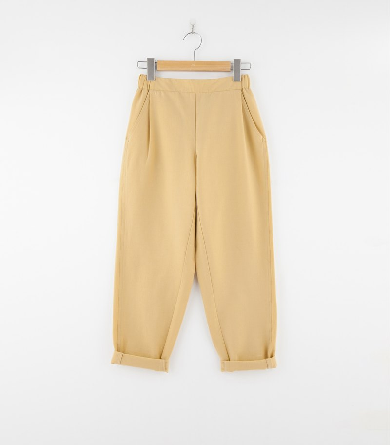 i'm comfortable cotton hand pleated pants