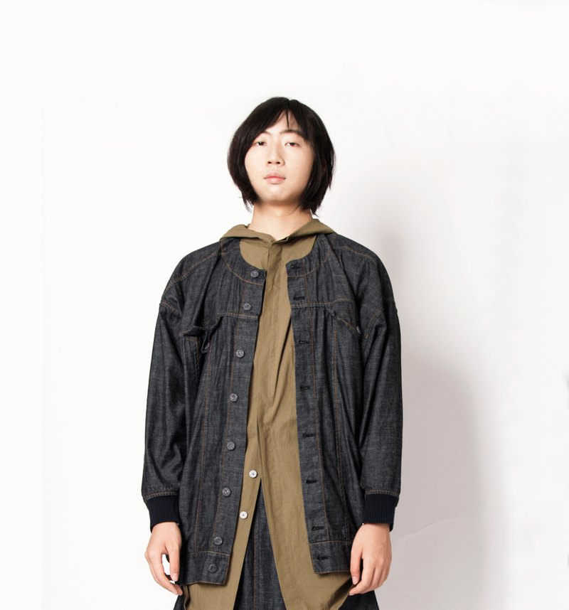 Earth _ midnight will be shoulders big pocket jacket