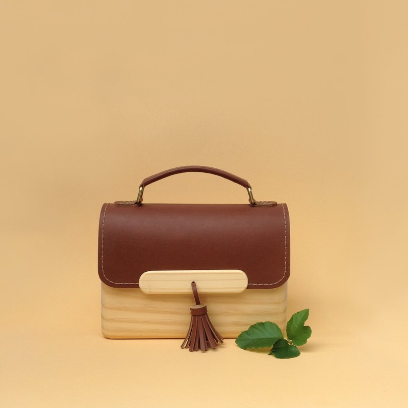 TS WOODEN BAG HANDLE (DARK BROWN)