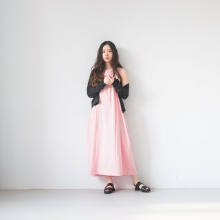 Pink loose casual dress