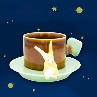 Three shallow Pottery | little fox mugs little prince birthday gift genuine authorized Zhou Bian Limited