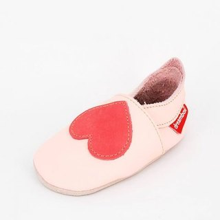 """Taiwan handmade"" ""Mimi preferred"" simple love leather shoes (red)"