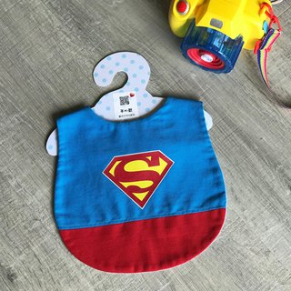 Mi Yue style bibs children's pockets superman hand-made dinner pocket can be set for picking paragraph embroidery