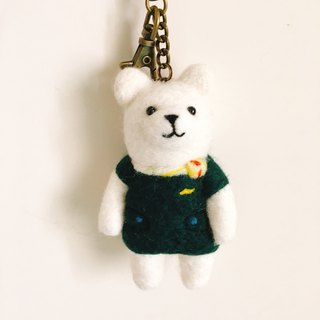 Uniform series stewardess bear uniform key ring
