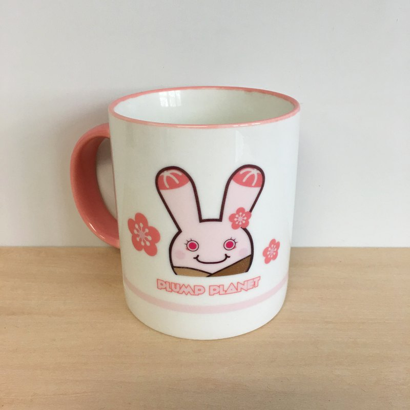 【Plump Planet Friends】Ceramic cup | Mola Ring Twin - Little Pink