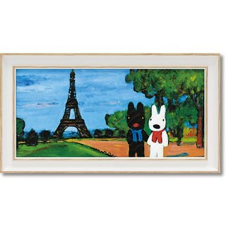 """Lisa and Caspian"" large horizontal frame copy painting - tower walking"