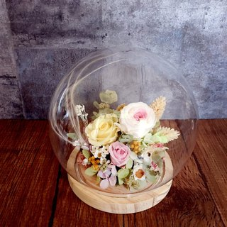 | Spring Garden | Not withered. Dry flowers. Glass ball. Flower bud