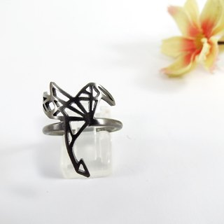 Humming Bird Geometric Ring