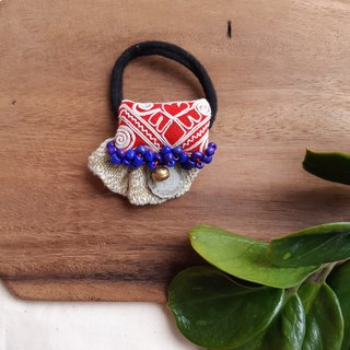 DUNIA handmade /colorful Hmong / Miao embroidery national wind ring -6