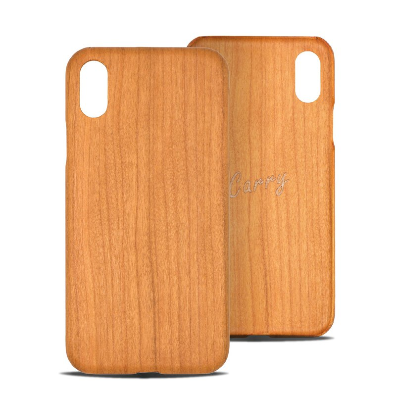 [Pure Wood Phone Case] iPhone X - Cherry Wood