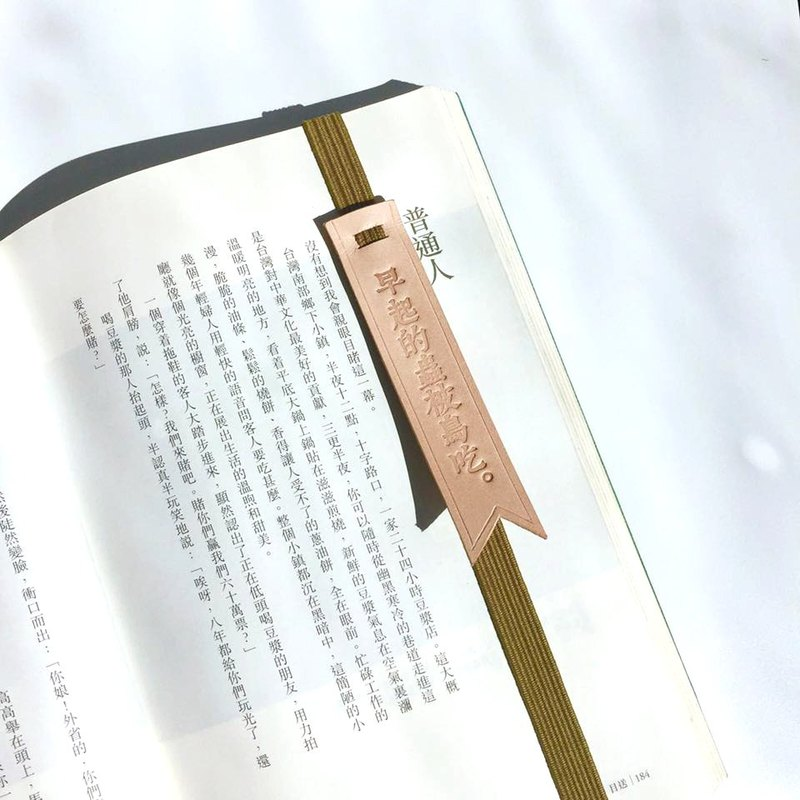 "Original and Hand-made Bookmark Strap with selected text / quotes-""Early worms caught by early birds."""