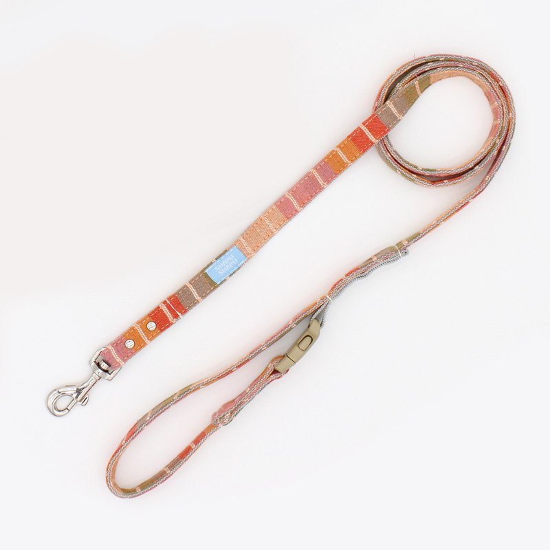 Colorful series leash - color red strip