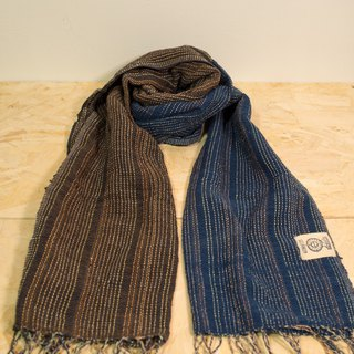 EARTH.er │Natural Dyed Scarf (Blue+Brown)│