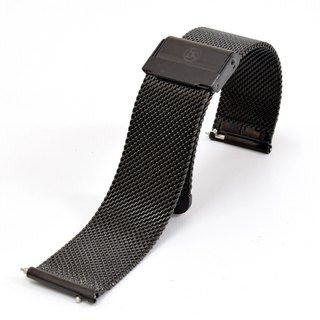 BOND STONE 20mm Stainless steel mesh belt Black(40mm case only)
