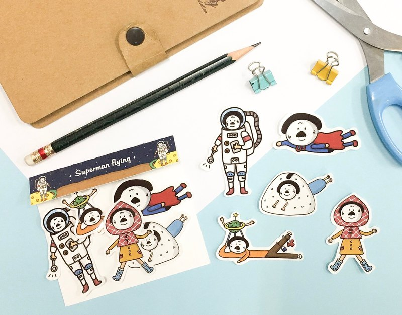 Rice ball planet sticker pack