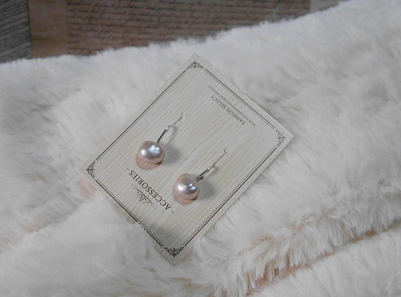 Silver-plated copper ear clips | Pearl