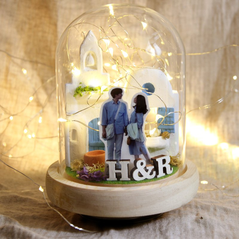 Heart in the love sea night light-customized/wedding gift/birthday/valentine day/anniversary/father's day