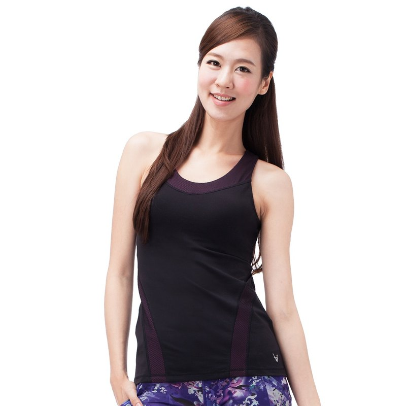 [MACACA] Surround hugs slim vest - AWE1371 black / pink