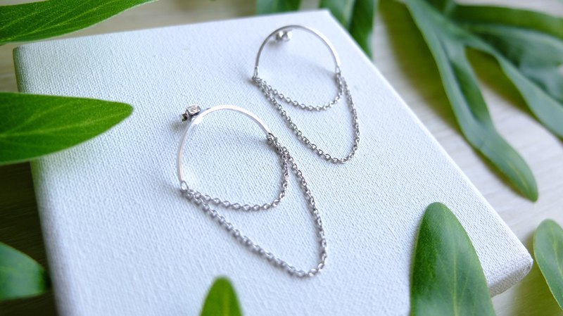 Hi Earrings 0105, 925 sterling silver