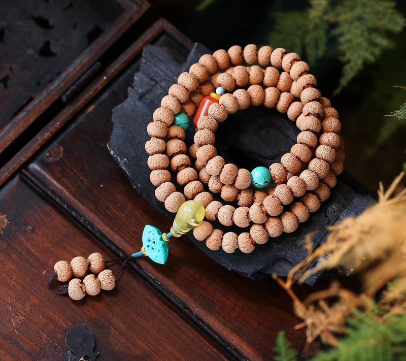 Original collection level lotus Bodhi bracelet can be used as necklace / 108 Bud