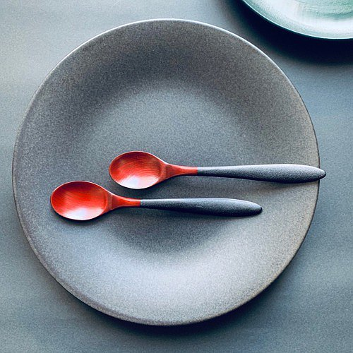 Keyaki curry spoon, lacquered