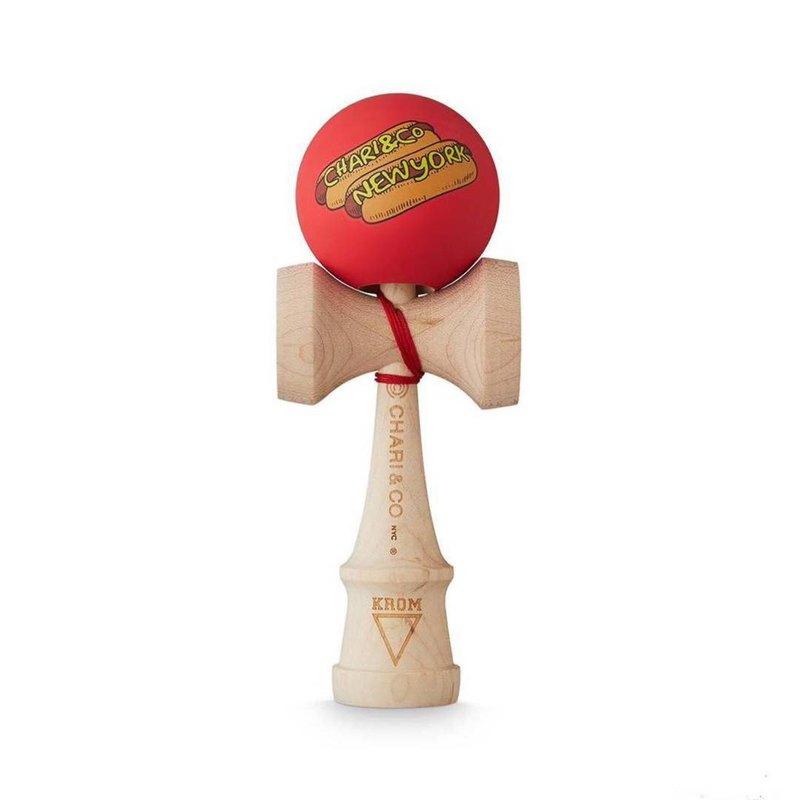 Denmark KROM x NYC maple rubber lacquered sword jade cooperation hot dog sword ball KENDAMA
