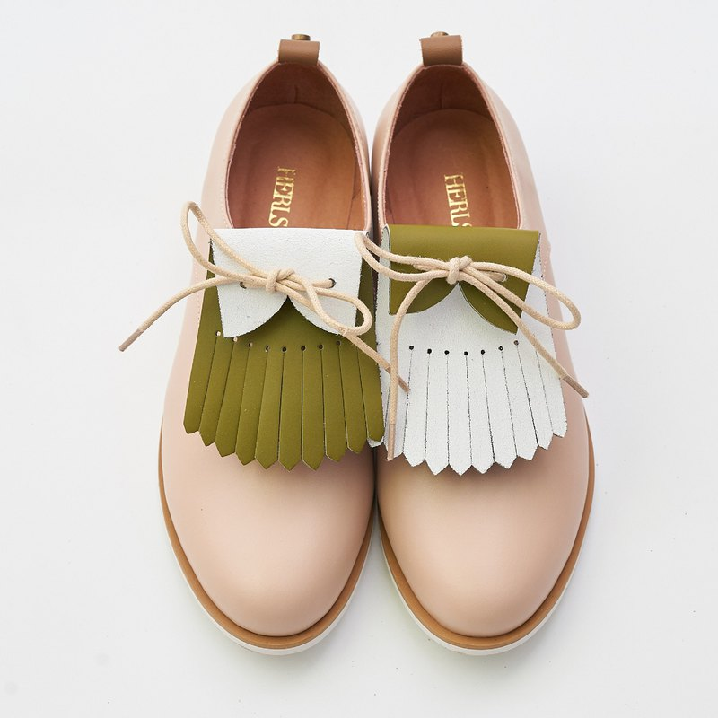 Fringed shoes x Reverse - casual olive green (without shoes)