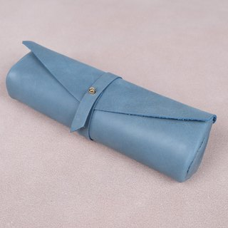 Handmade high grade Italian Leather pencil case (mint)