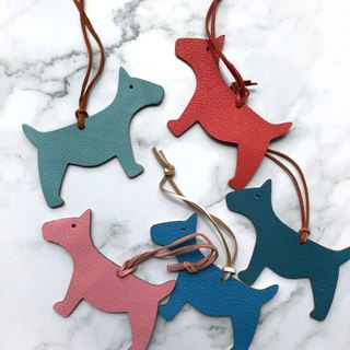 Dog accessories / bag accessories / handmade leather double-sided pendant