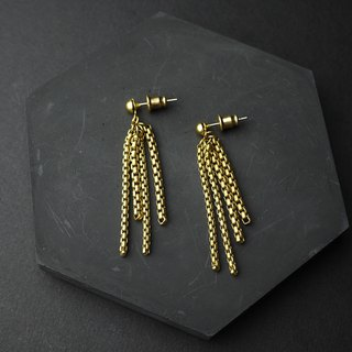 Spilled - Brass Earrings