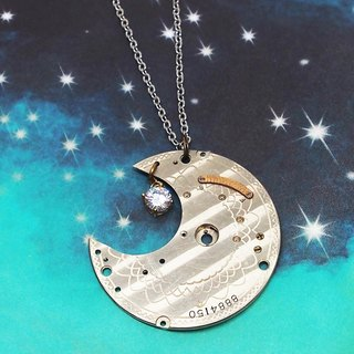 Steampunk Three Moon Moon light -Silver