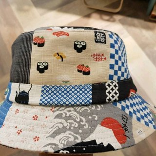British disc gentleman hat retro Japanese sushi patchwork wind #日布#遮阳#情人节# Gift