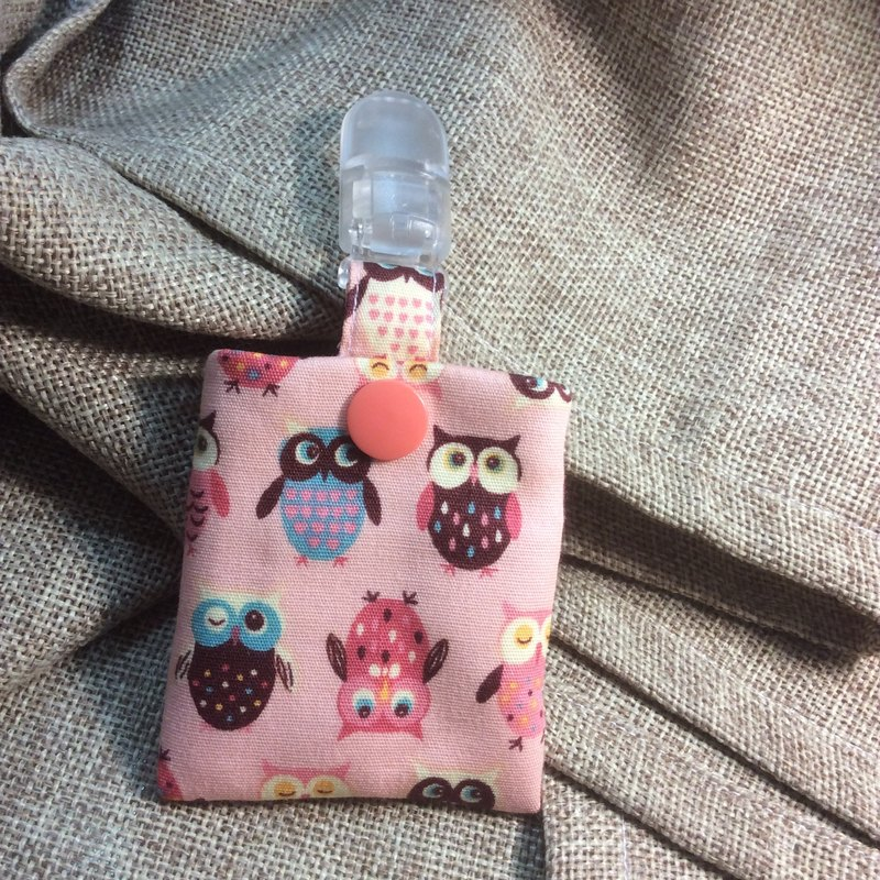 Peace symbol bags | key ring | small pink - Owl