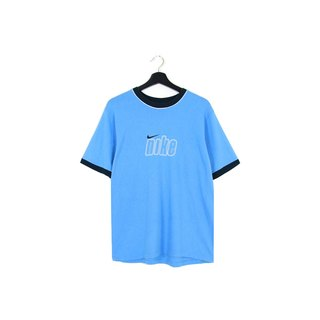 Back to Green :: NIKE water blue and all men and women can wear / / vintage t-shirt (T-27)