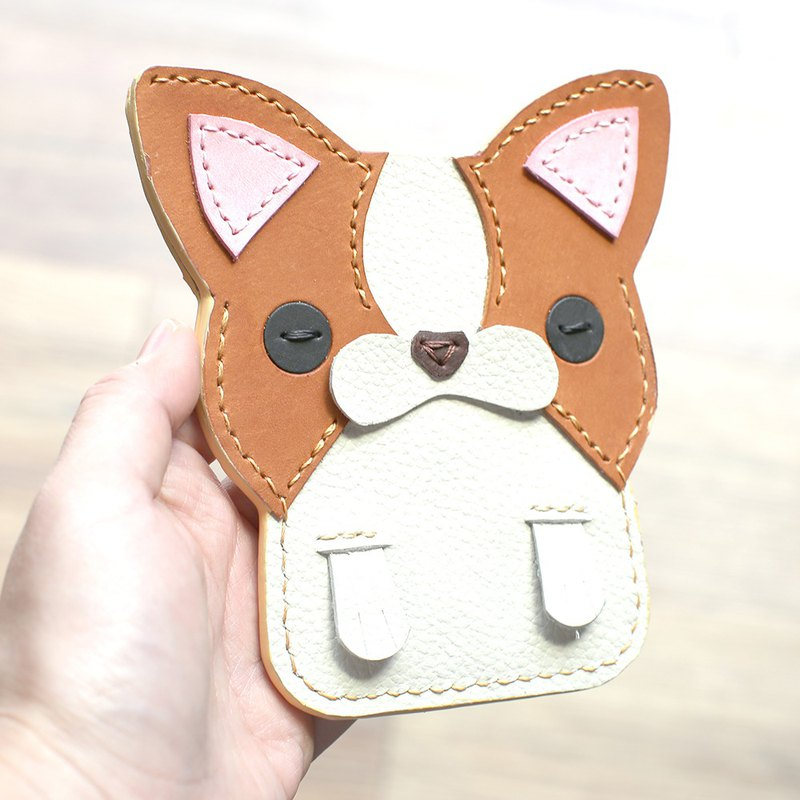 Sincere Chihuahua handmade leather ID card set / leisure card / identification card set