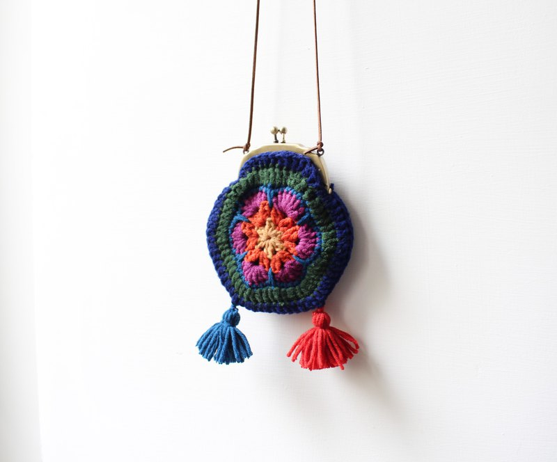 Tassel wool purse mouth bag