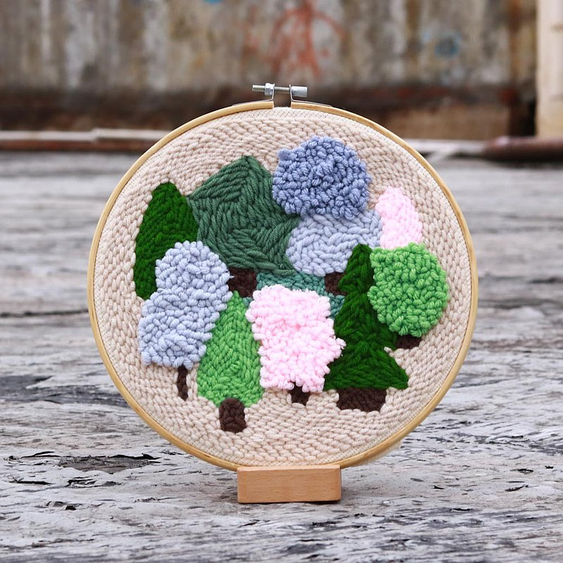 Handmade punch needle - Forest