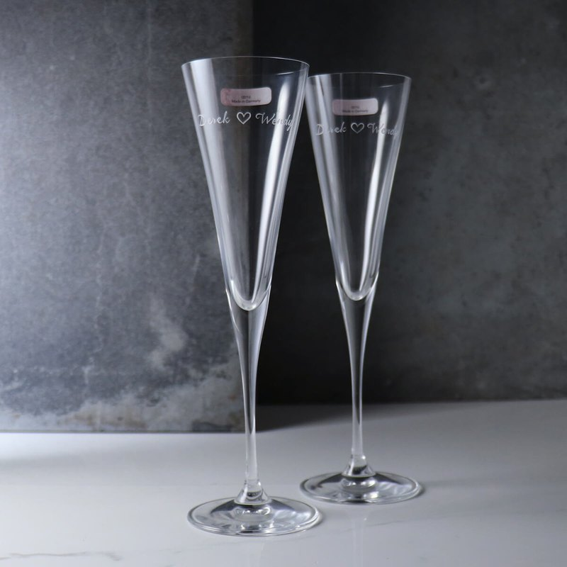 (a pair of prices) 165cc [German Spiegelau wedding] platinum unleaded crystal champagne married to the cup