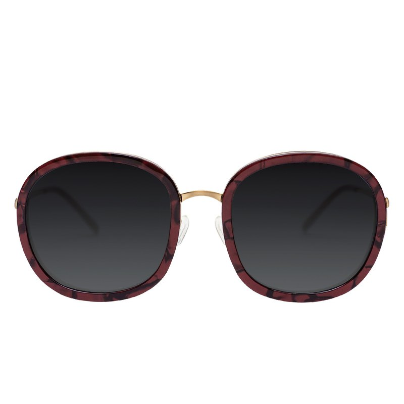 MARCH HARE WINE Chestnut Red Sunglasses Sunglasses