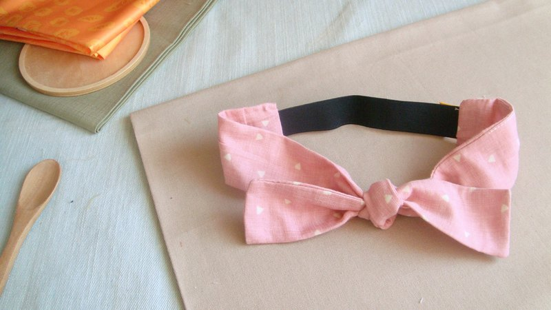 Light rose l limited edition series l bow tie tied tie hair band