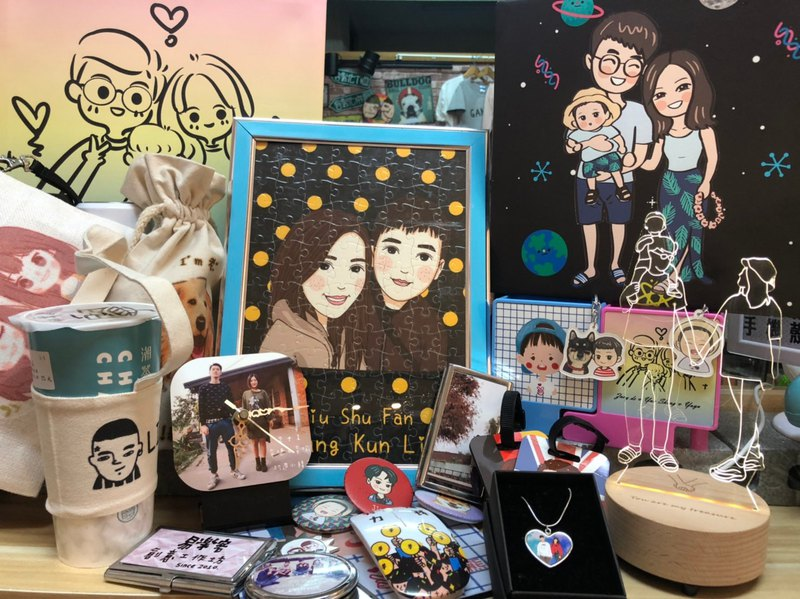 MG hand-painted works album [slide down to find your favorite] hand-painted Q version customized gifts