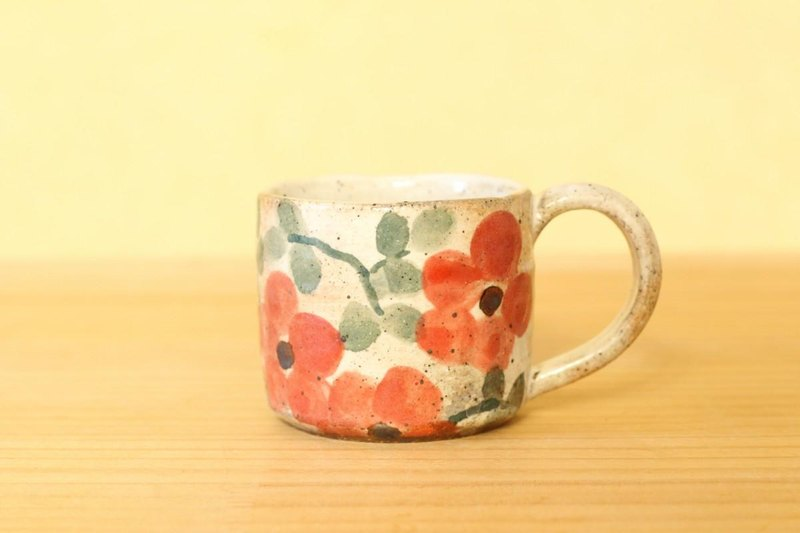 Reddish red flower cup.