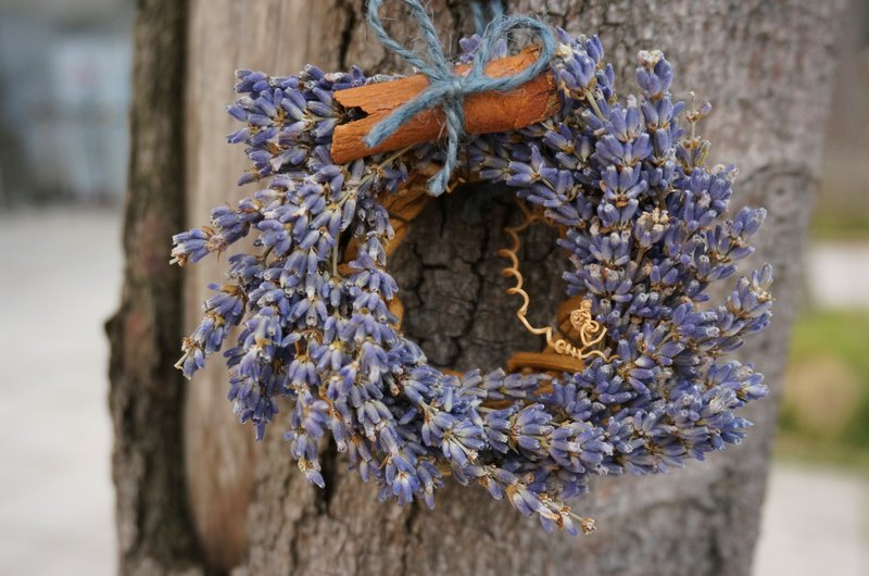 Mini lavender Christmas wreath, Christmas wreath, Dry flowers, Flowers, Gifts