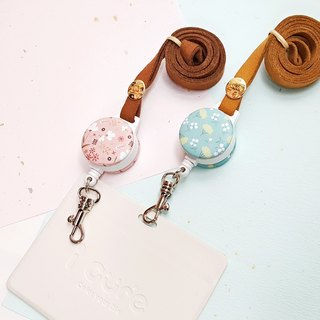 i Nice to wear a telescopic ID ticket holder - Spring New Home Decor Series/ Gardenia/ Osmanthus Valentine's Day gift