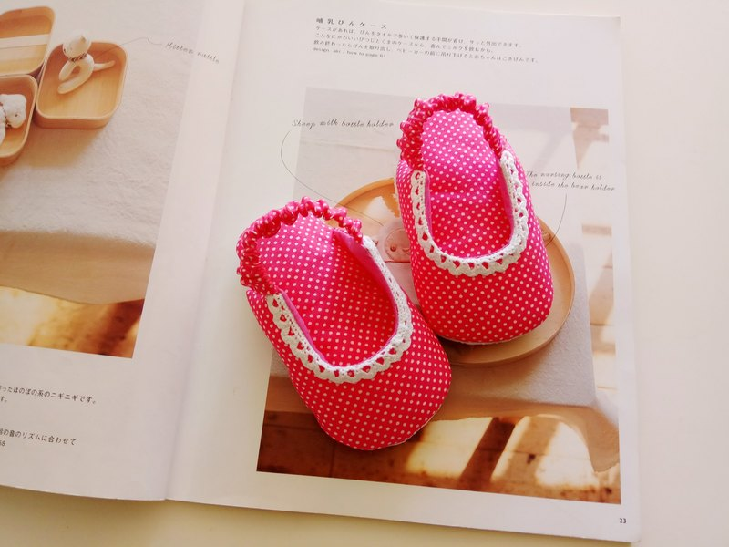 Pink Water Yum Cotton Lace Monkey Gifts Baby Sandals Baby Shoes 11/12