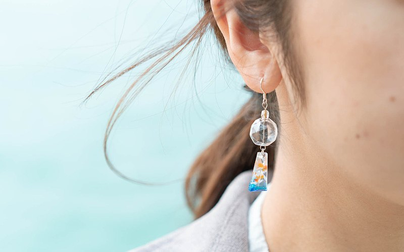 【Goldfish Side B】 Fish Earrings Jewelry Series