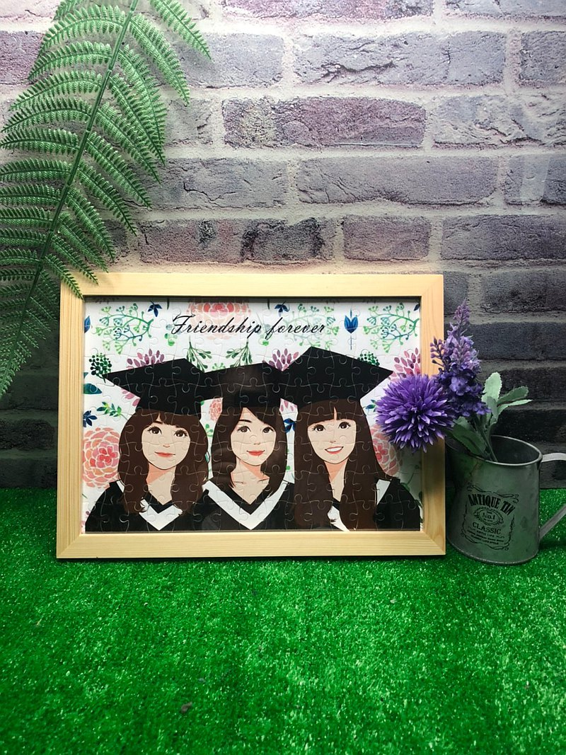 If you want to cancel the gift at the graduation ceremony of the seemingly painted puzzle, you still need to send a wooden frame with ikea frame