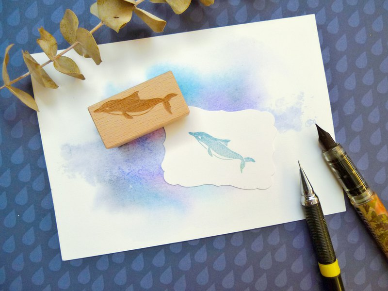 Dolphin Rubber Stamp