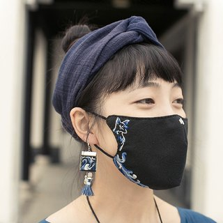 Earrings / masks nine tail Linghu small fox fairy DIY hand embroidery material bag antique style creative fabric production