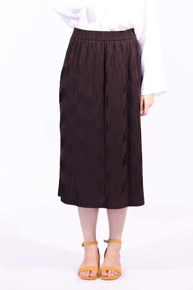 Curl Pleated Skirt